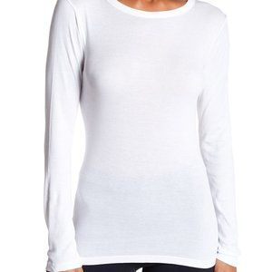 Vince Long Sleeve Crew Neck Shirt White